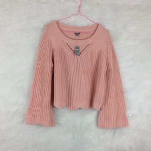 Aerie | scallop bell sleeve sweater